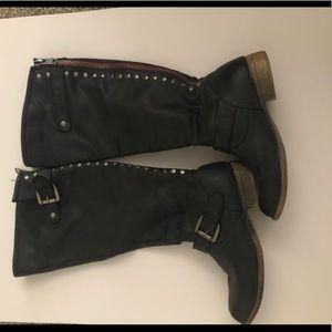 Steve Madden grey ridding boots